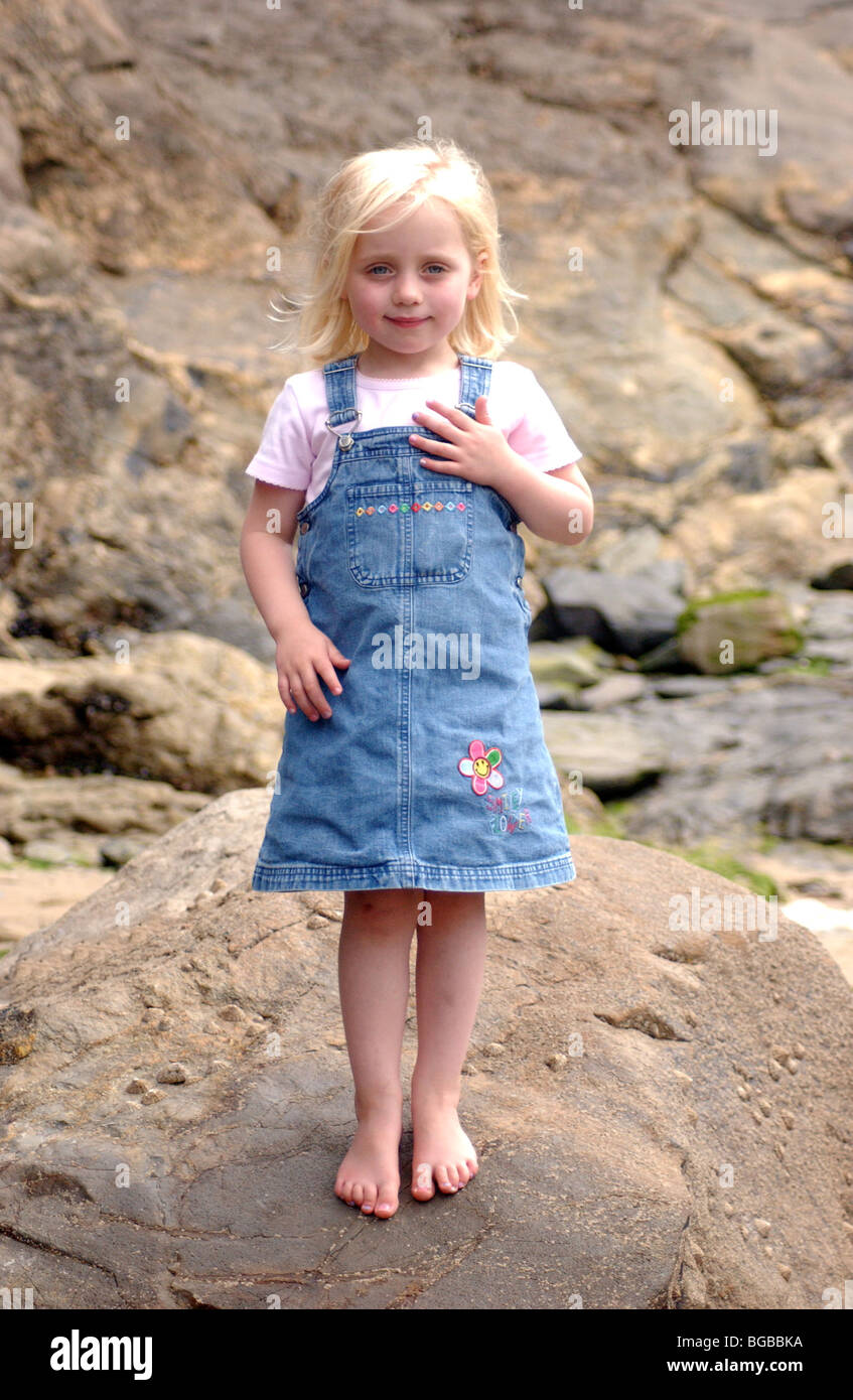 Royalty Free Photograph Of Young Girl Bare Foot On Holiday