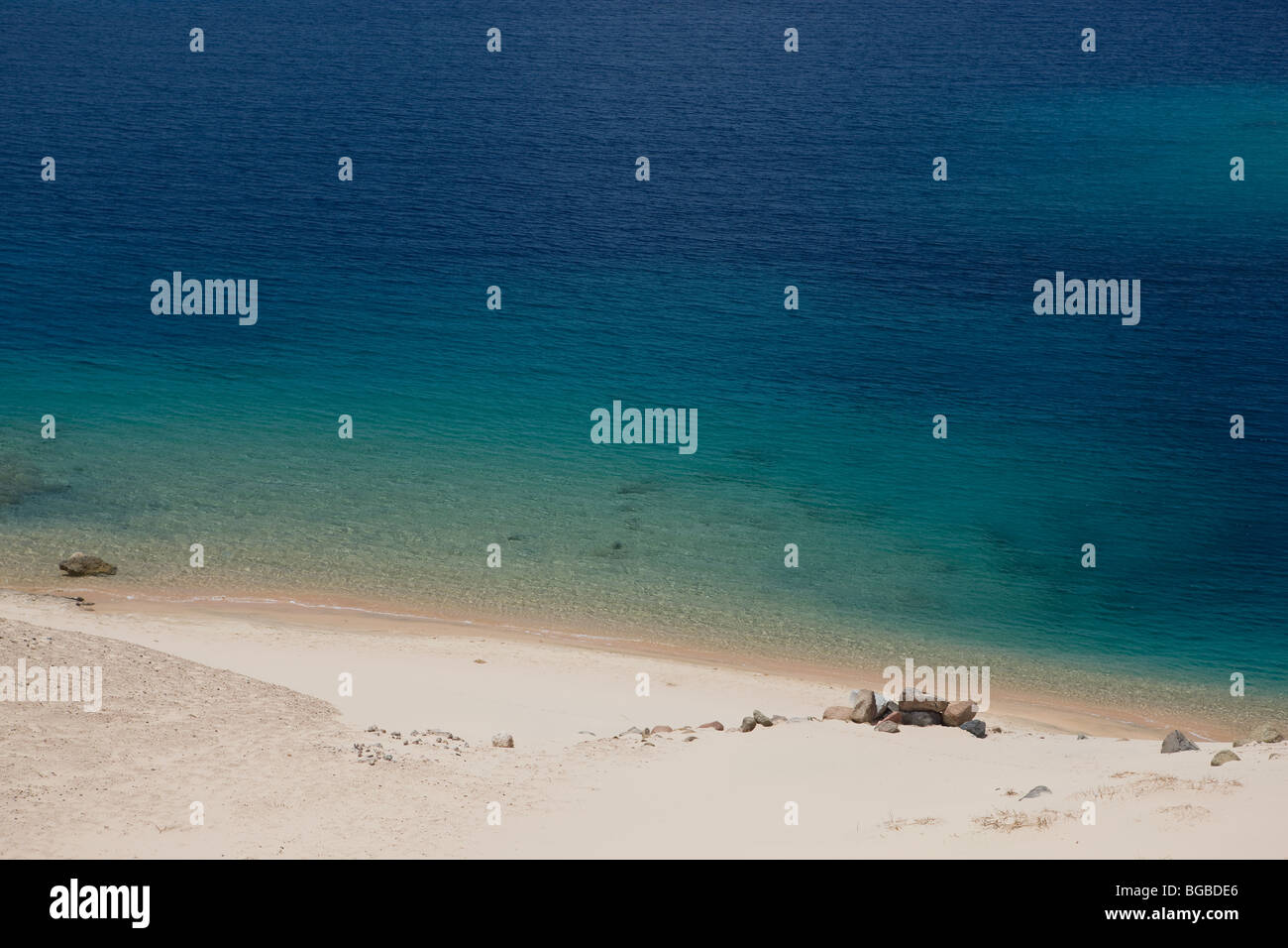 Africa, Egypt, Sharm el Sheikh, national park Ras Mohammed, beach, sea, water, blue, colors, sand, relax - Stock Image