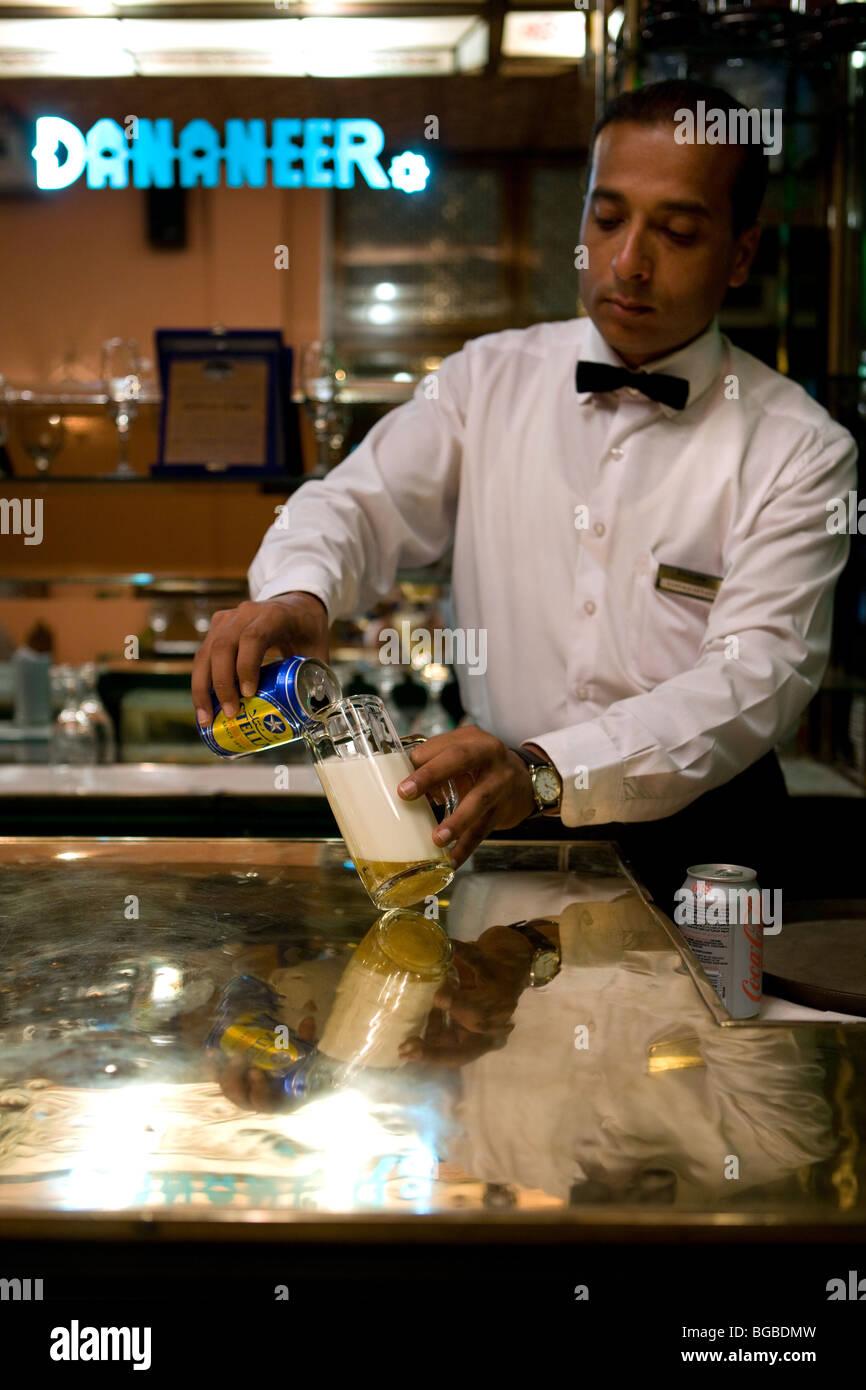 Africa, Egypt, Sharm el Sheikh, Nightlife, bar, one of the best restaurants in town, beer, waitresses, restaurant, - Stock Image