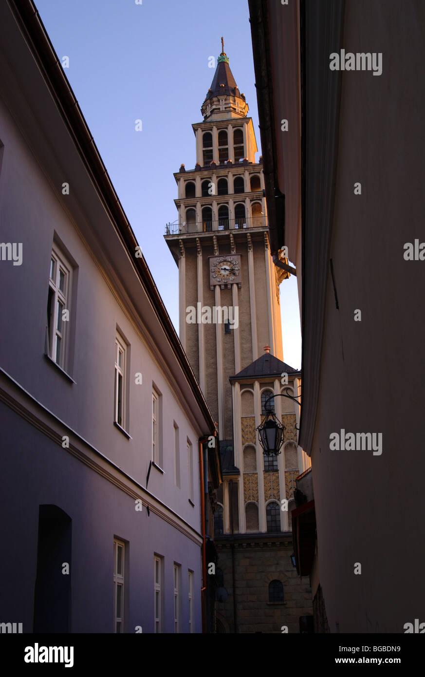 Bielsko Biala old town - Stock Image