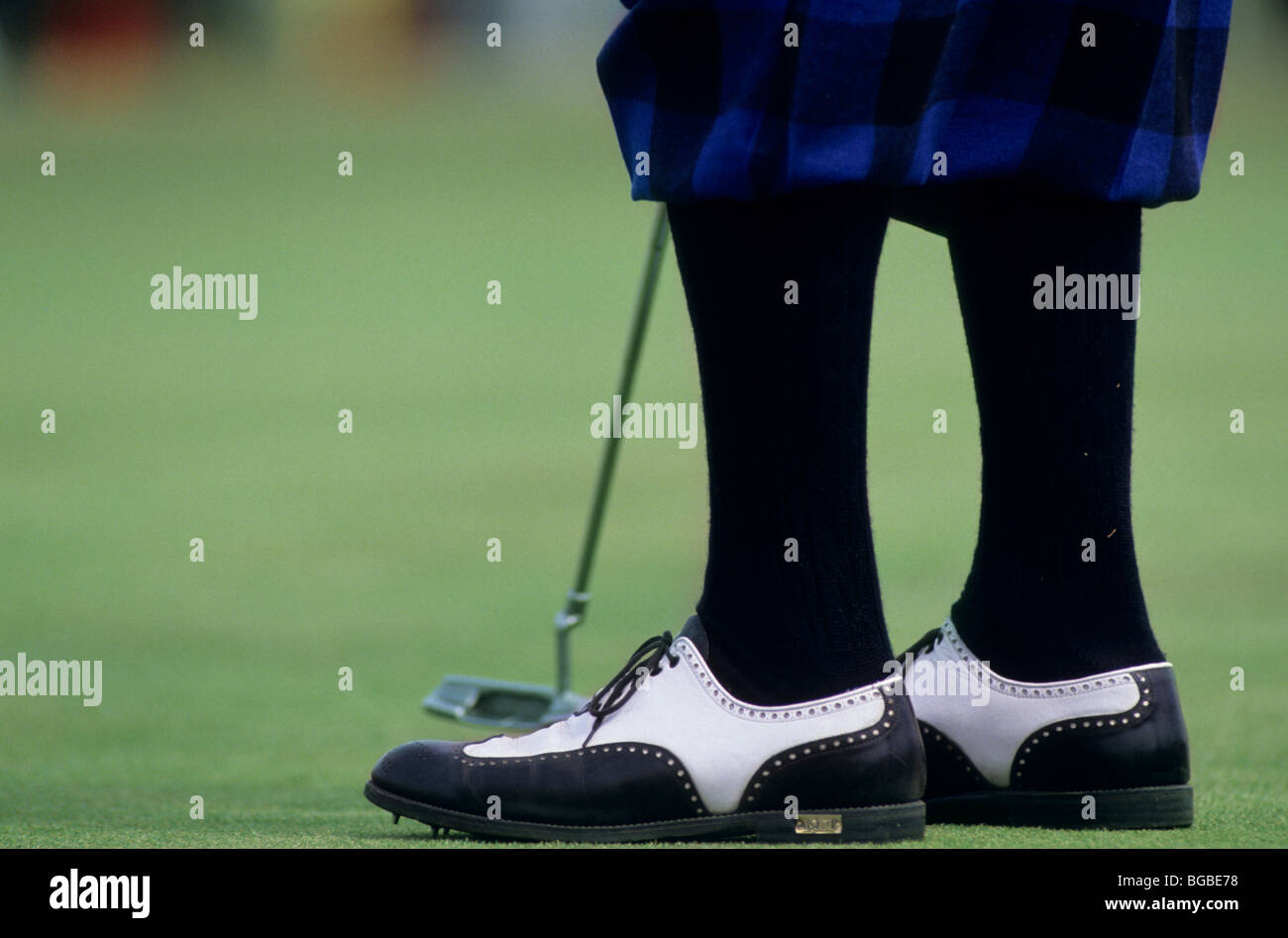 Close up of a golfers plus fours and traditional golf shoes Stock ... ce4c678c5