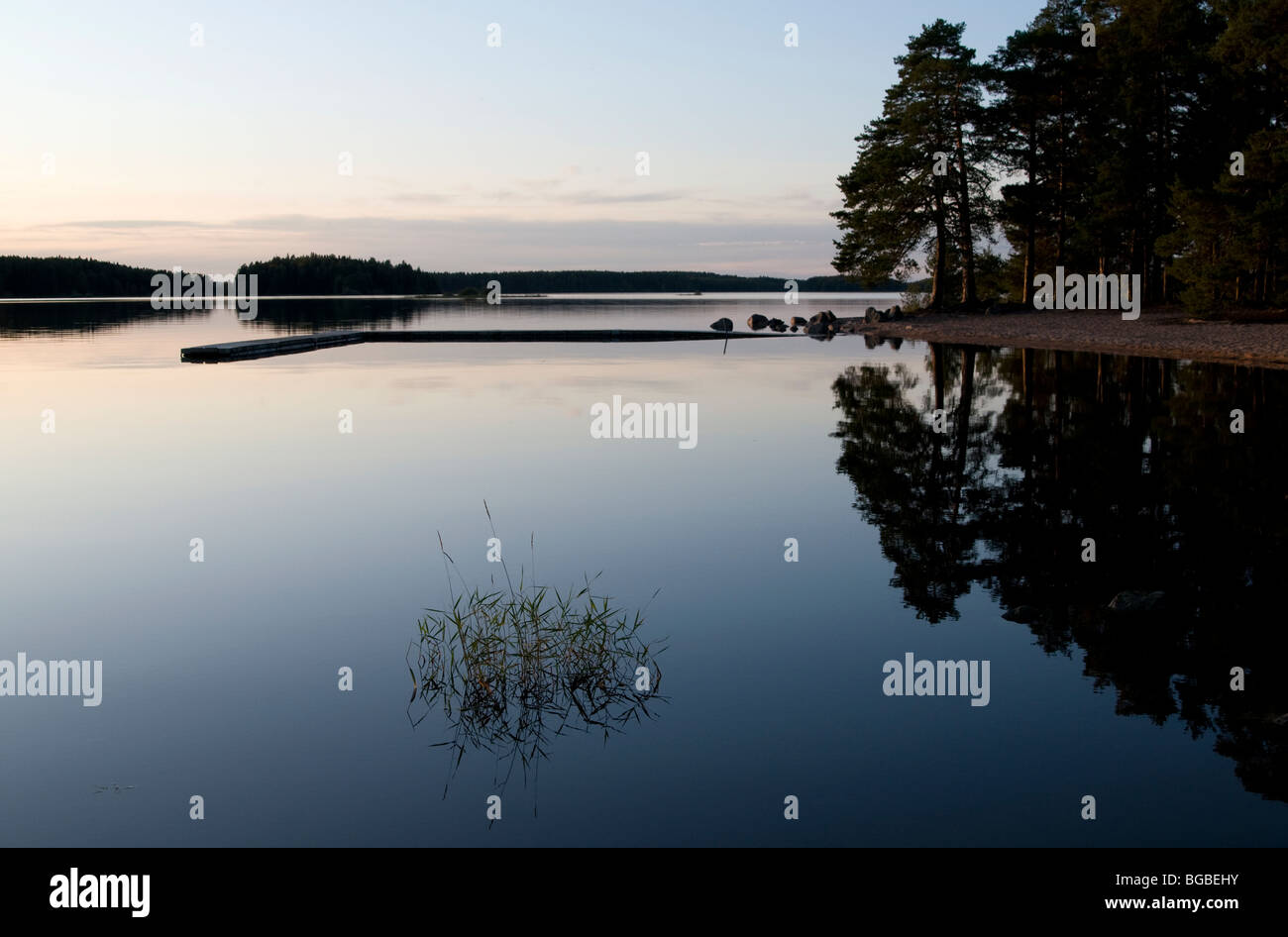 Färnebofjärden National Park in Sweden, Västmanland, Dalarna Stock Photo