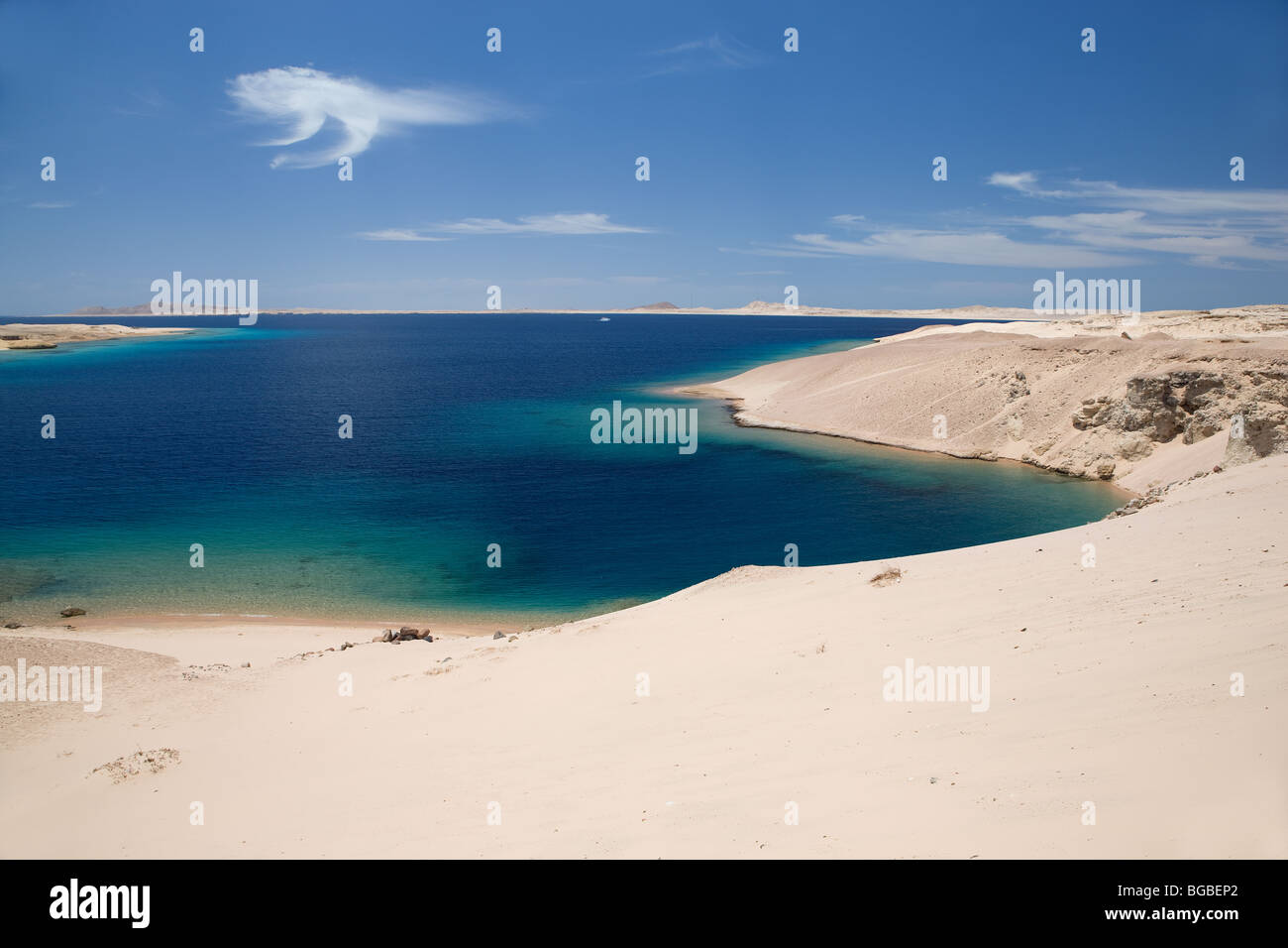 Africa, Egypt, Sharm el Sheikh, national park Ras Mohammed, beach, sea, water, blue, colors, sky - Stock Image