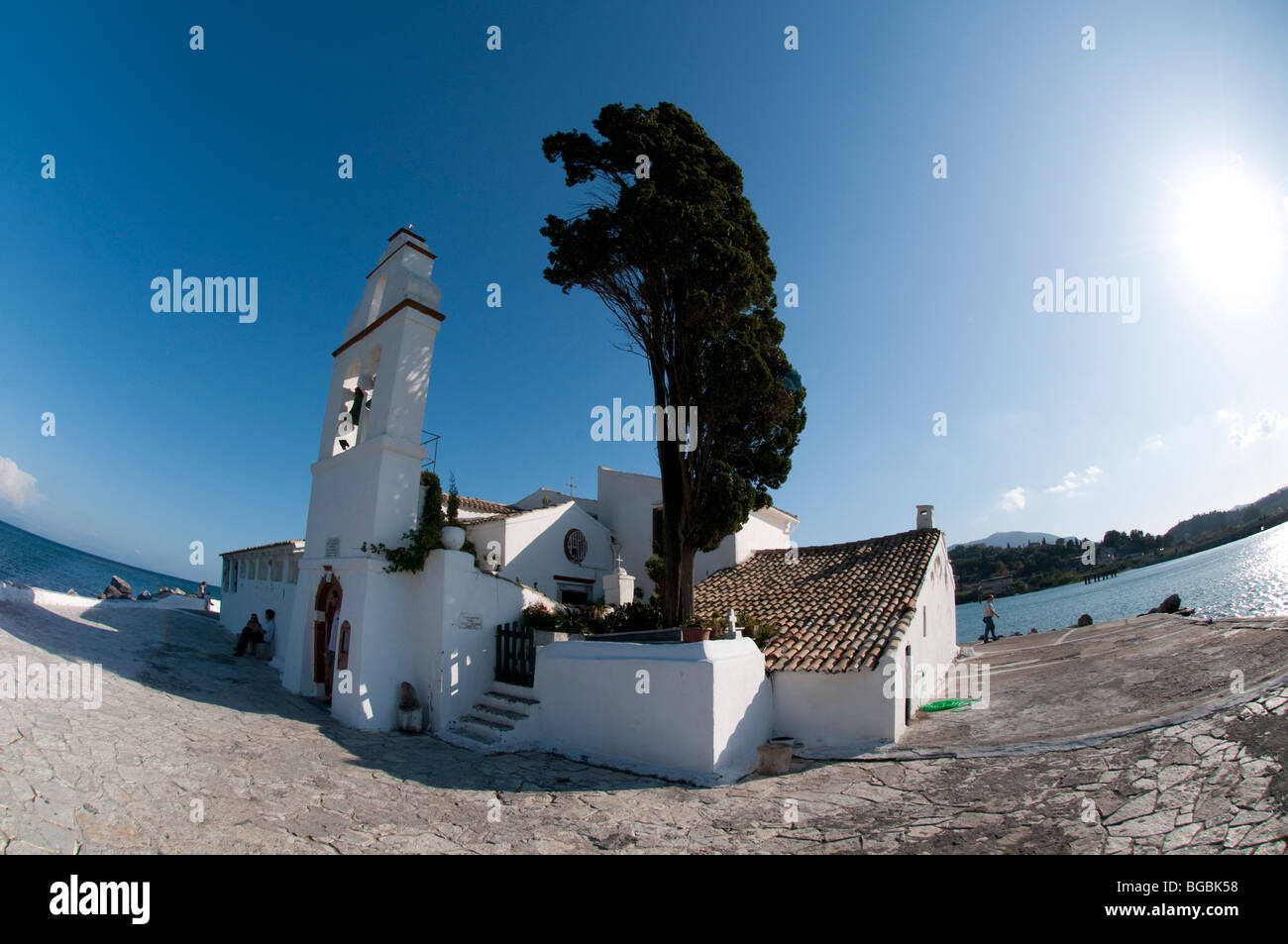 Vlacherna Monastry of Panayia, Cofru, Greece - Stock Image