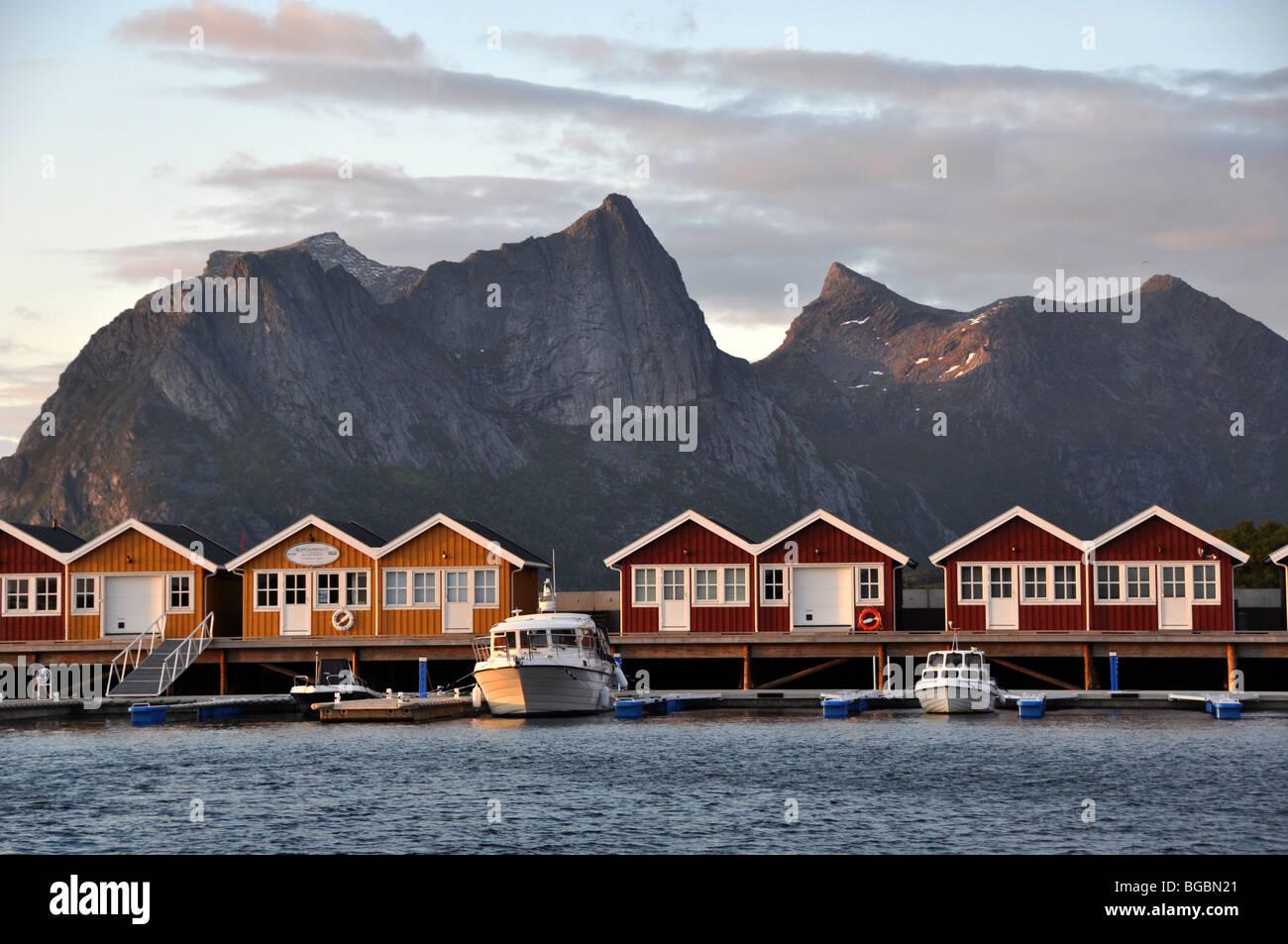 Holiday homes Kjerringoy  Handelssted  Salten  Nordland Norway - Stock Image