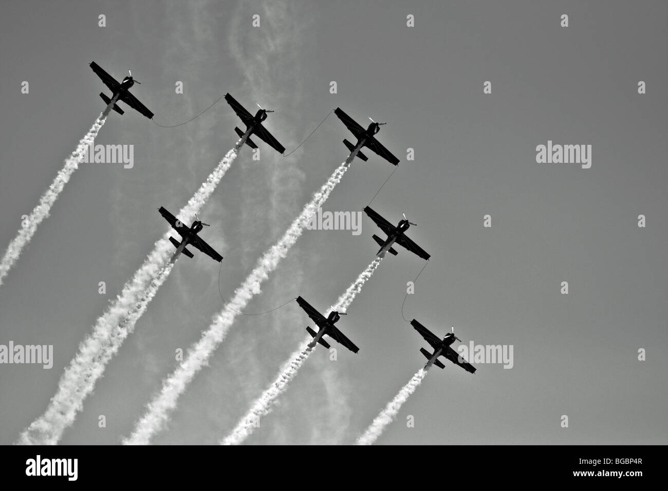 The Royal Moroccan Air Force aerobatic display team Marche Verte at the Koksijde 2009 airshow - Stock Image