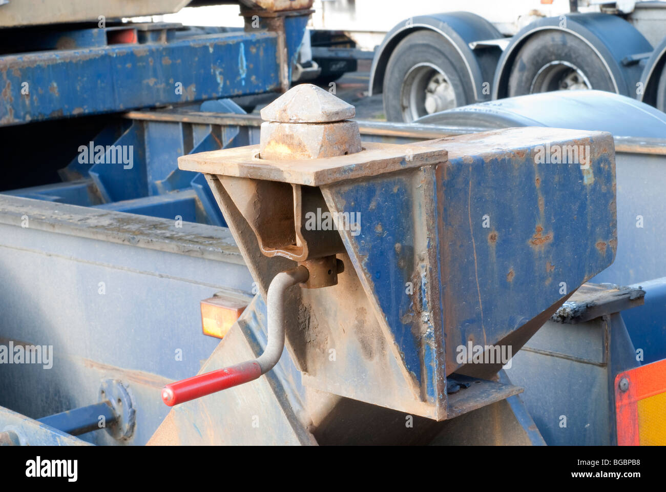 Shipping container twistlock connection on stock photos