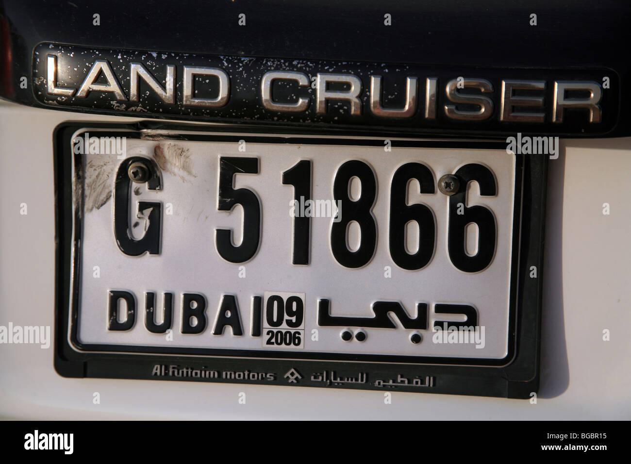 Number Plate Of A Land Cruiser Dubai Stock Photo 27304401