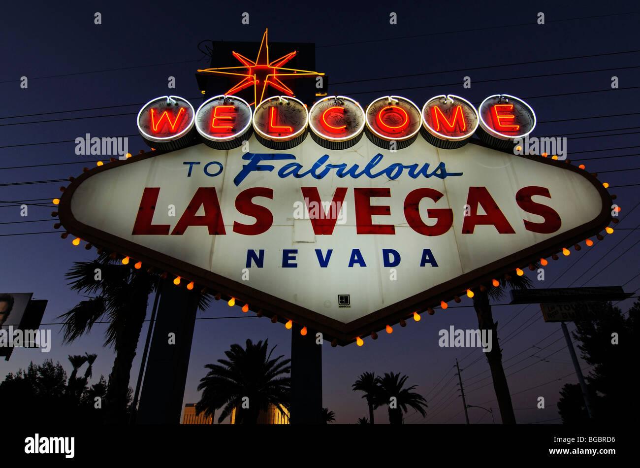 Welcome sign, Las Vegas, Nevada, USA Stock Photo