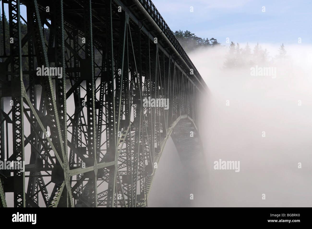 Deception Pass Bridge, Kitsap County, Washington, USA - Stock Image