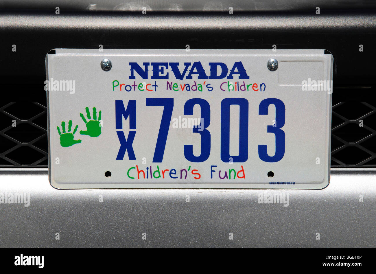 Number plate, license plate, Las Vegas, Nevada, USA - Stock Image