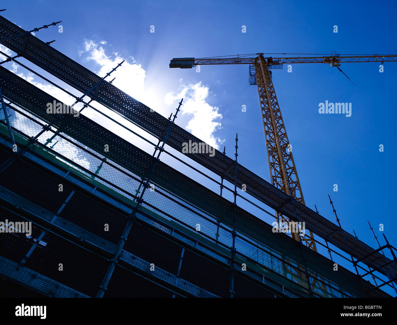Tower Crane on construction site - Stock Image