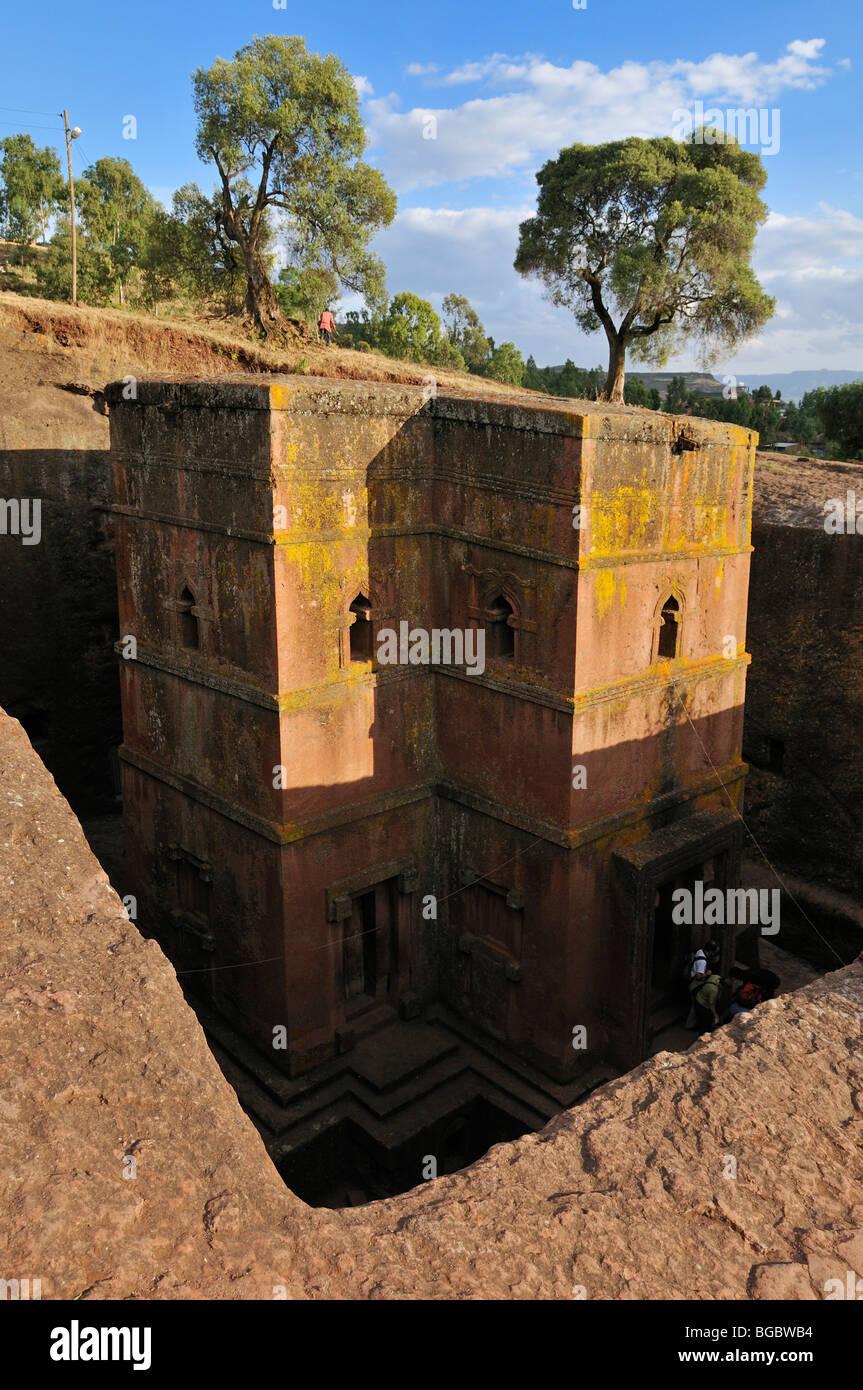 Bet Giyorgis church at Lalibela, UNESCO World Heritage Site, Amhara, Ethiopia, Africa - Stock Image