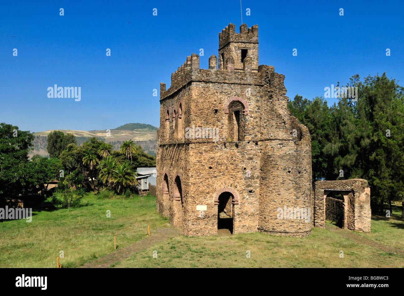 Fasiladas Archive, Royal Enclosure Fasil Ghebbi, UNESCO World Heritage Site, Gonder, Gondar, Amhara, Ethiopia, Africa - Stock Image