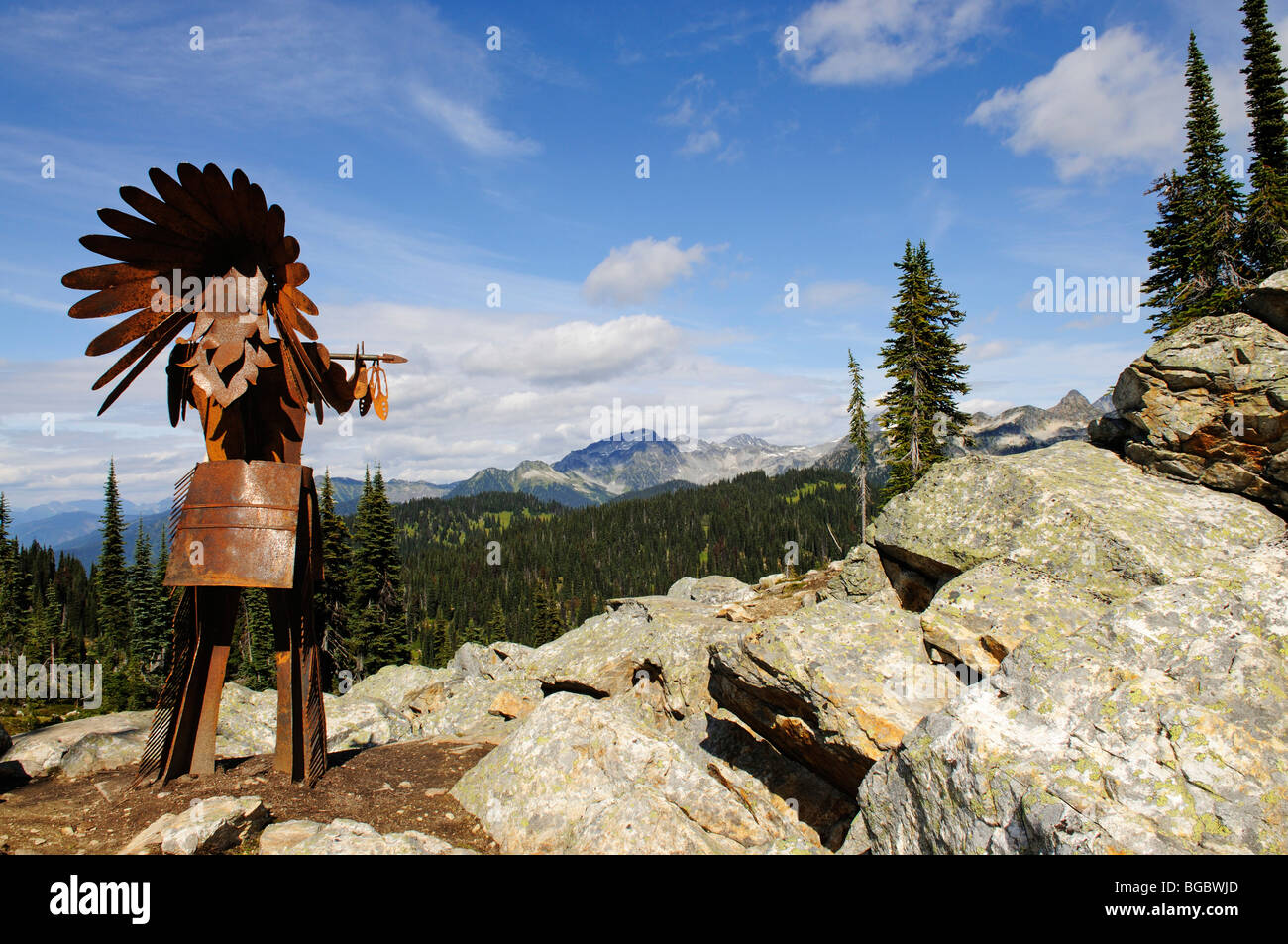 Native American iron chief, Mt. Revelstoke, Meadows in the Sky, Revelstoke National Park, British Columbia, Canada - Stock Image