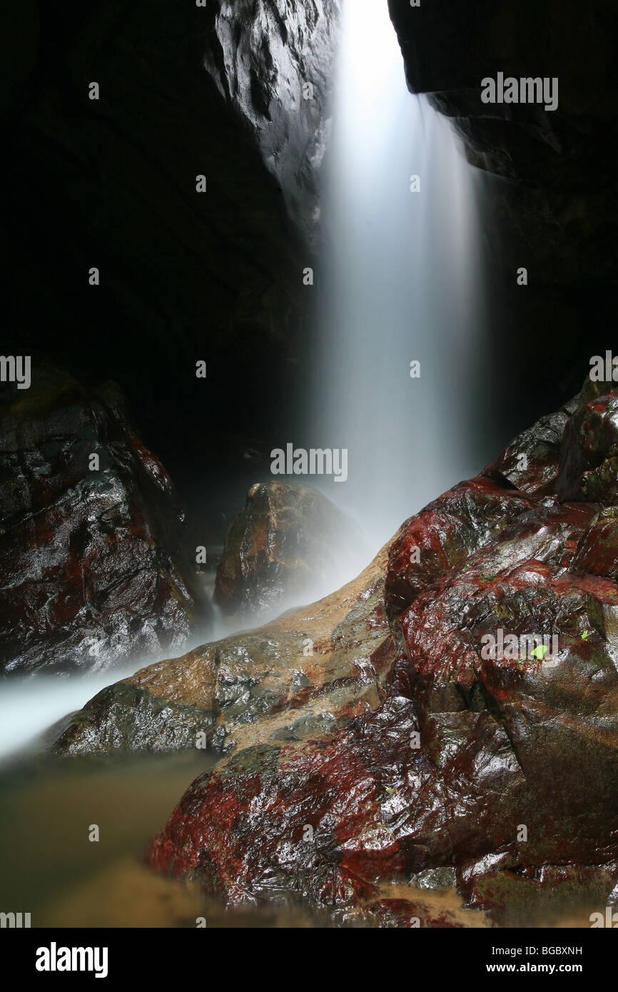 The beautiful waterfalls Chorro las Yayas, near El Cope in Cocle province, Republic of Panama. - Stock Image