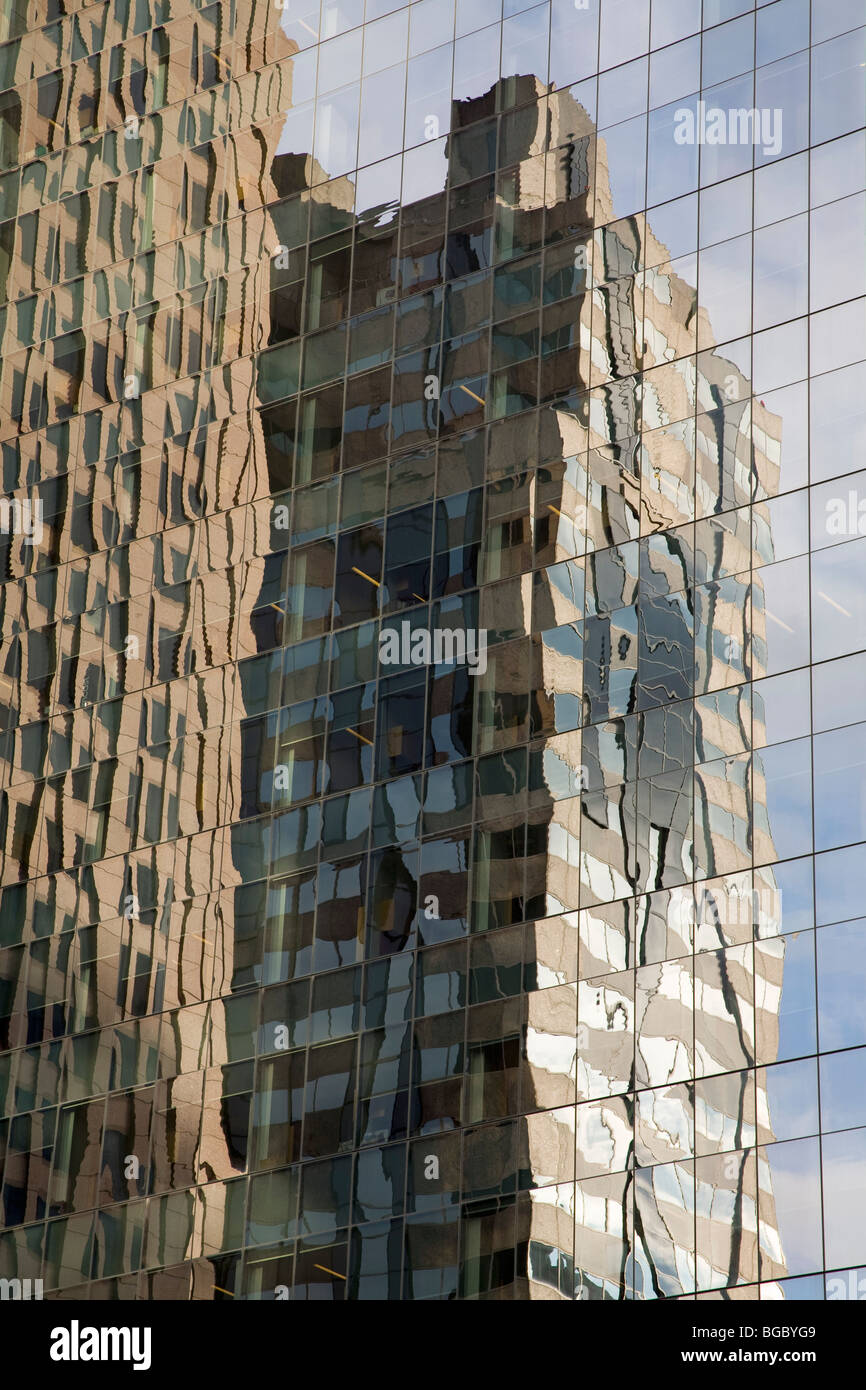 Reflections in highrise building; Philadelphia, Pennsylvania, USA - Stock Image