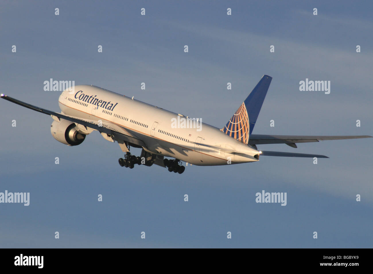 CONTINENTAL AIRLINES BOEING 777 - Stock Image
