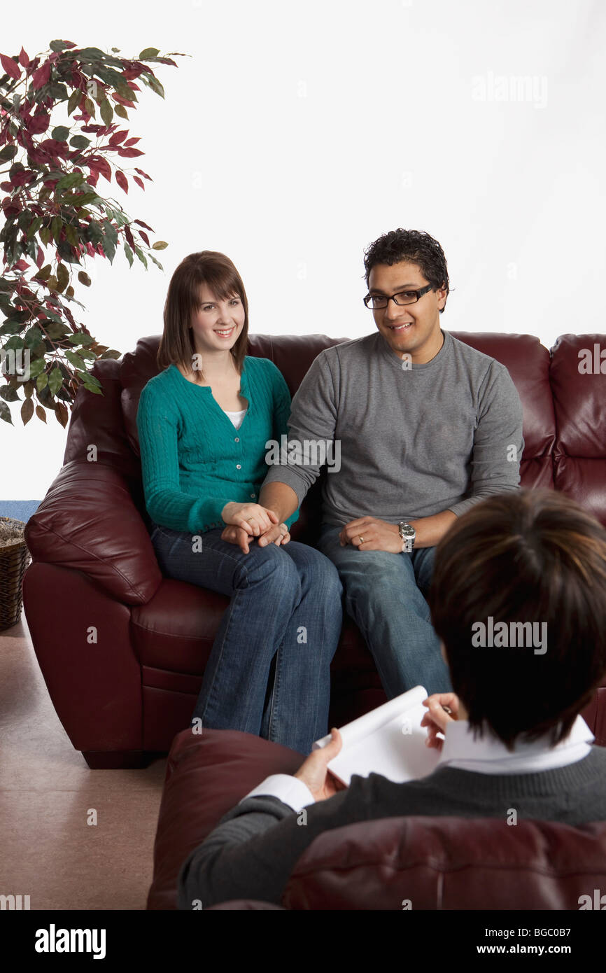 Couple in counseling - Stock Image