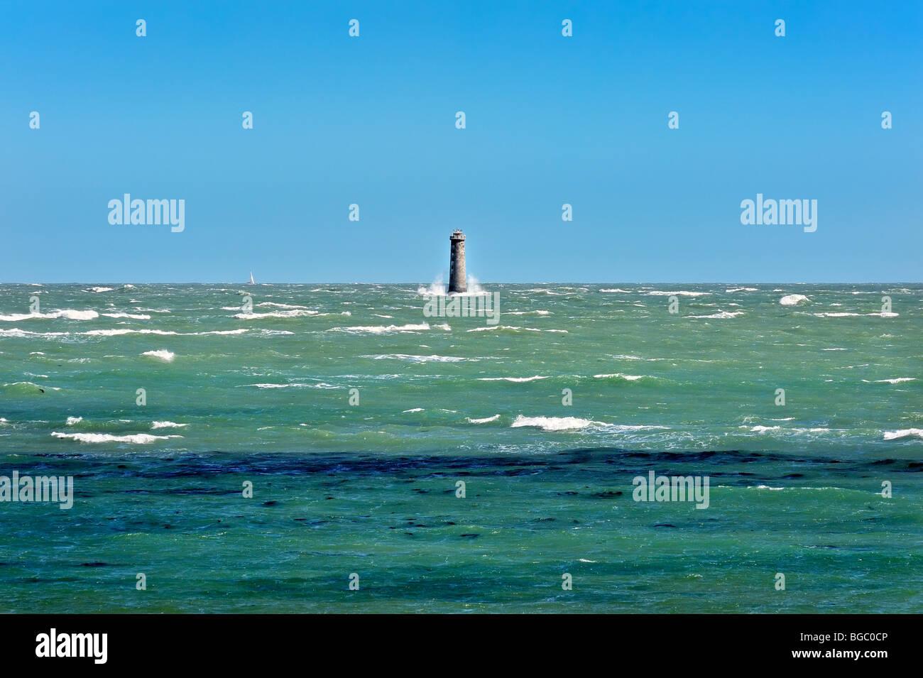 The Atlantic ocean at Ile de Re, France. - Stock Image