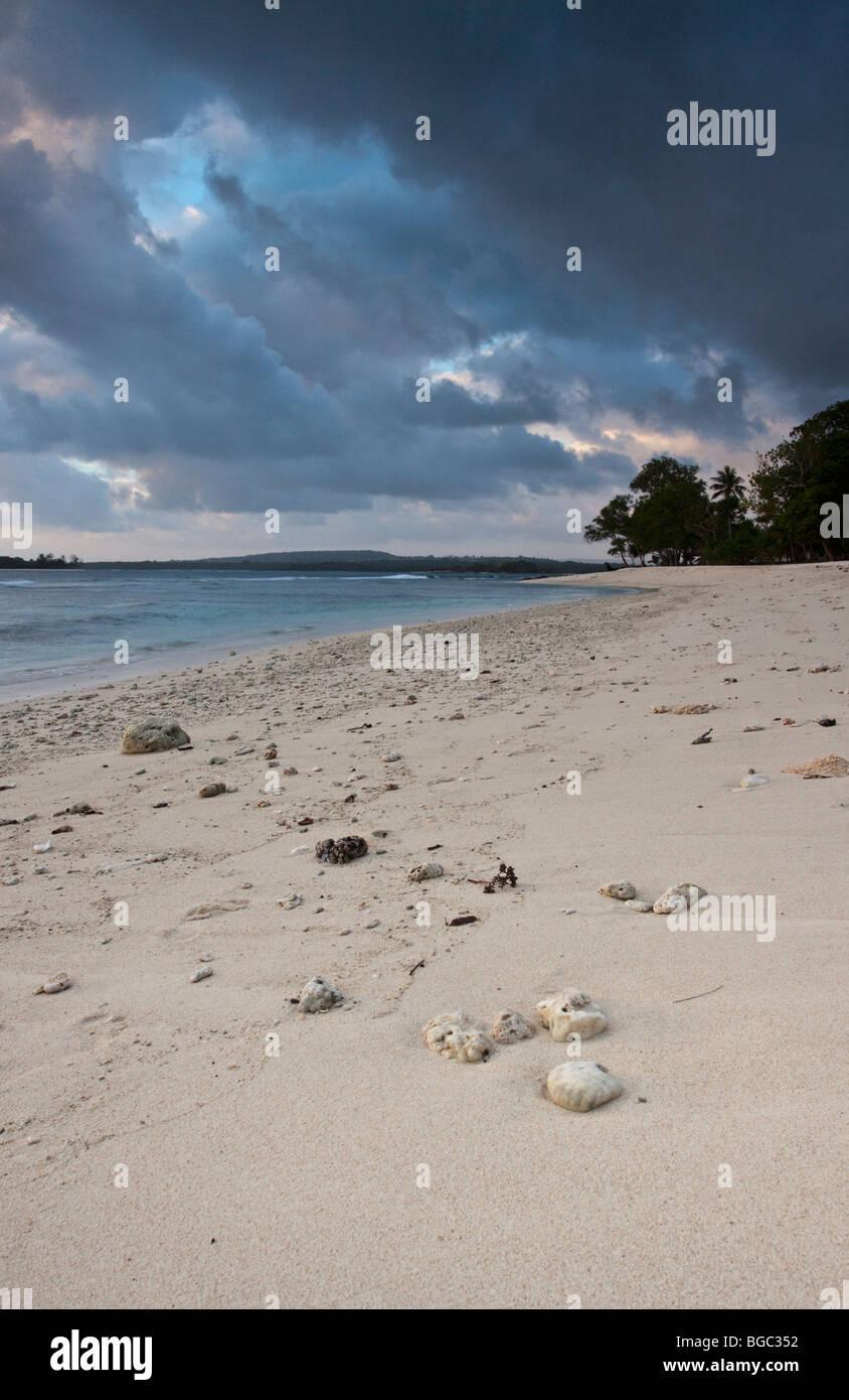 Eratap Beach Efate Island vanuatu - Stock Image