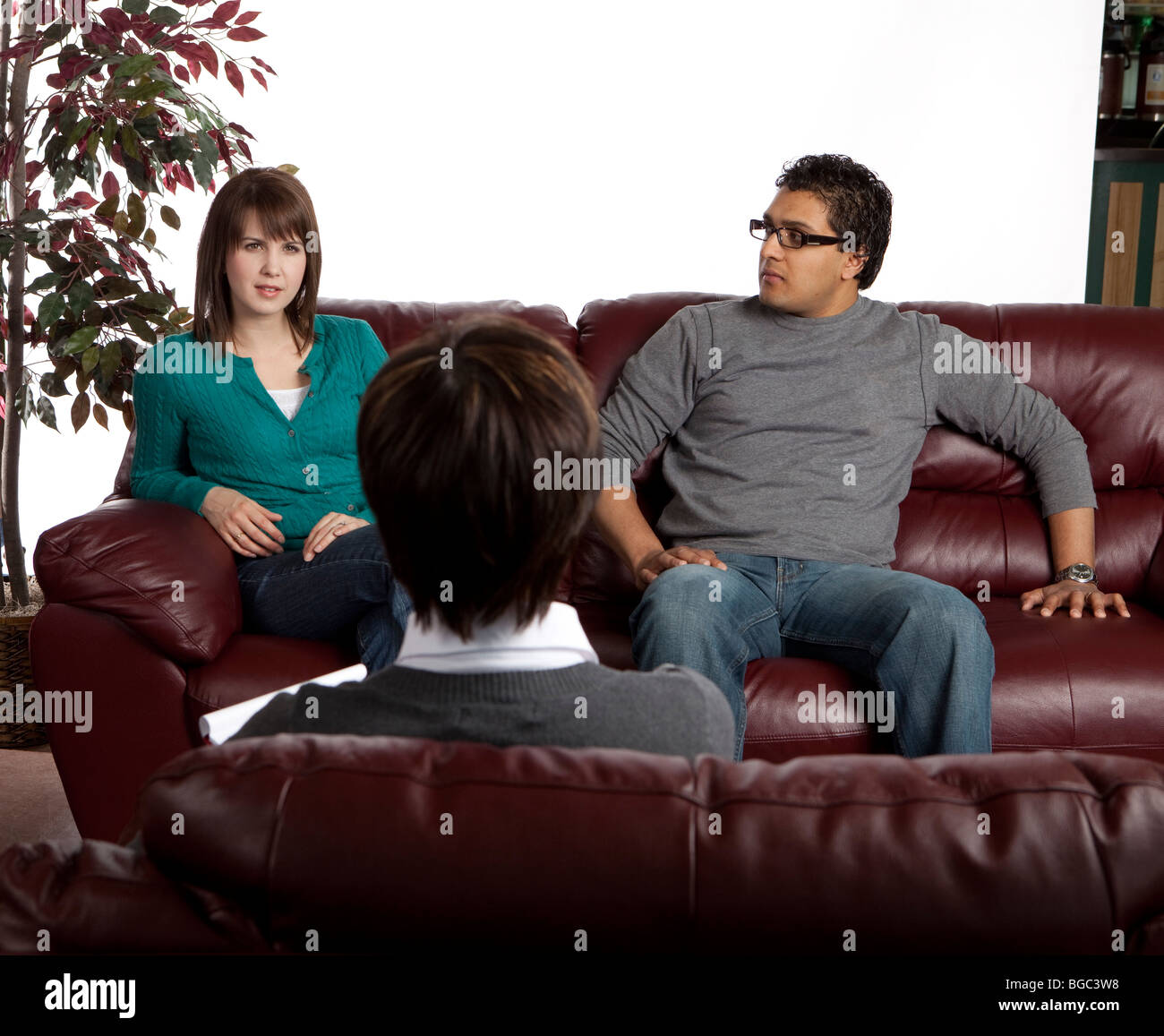 Couple in counseling Stock Photo