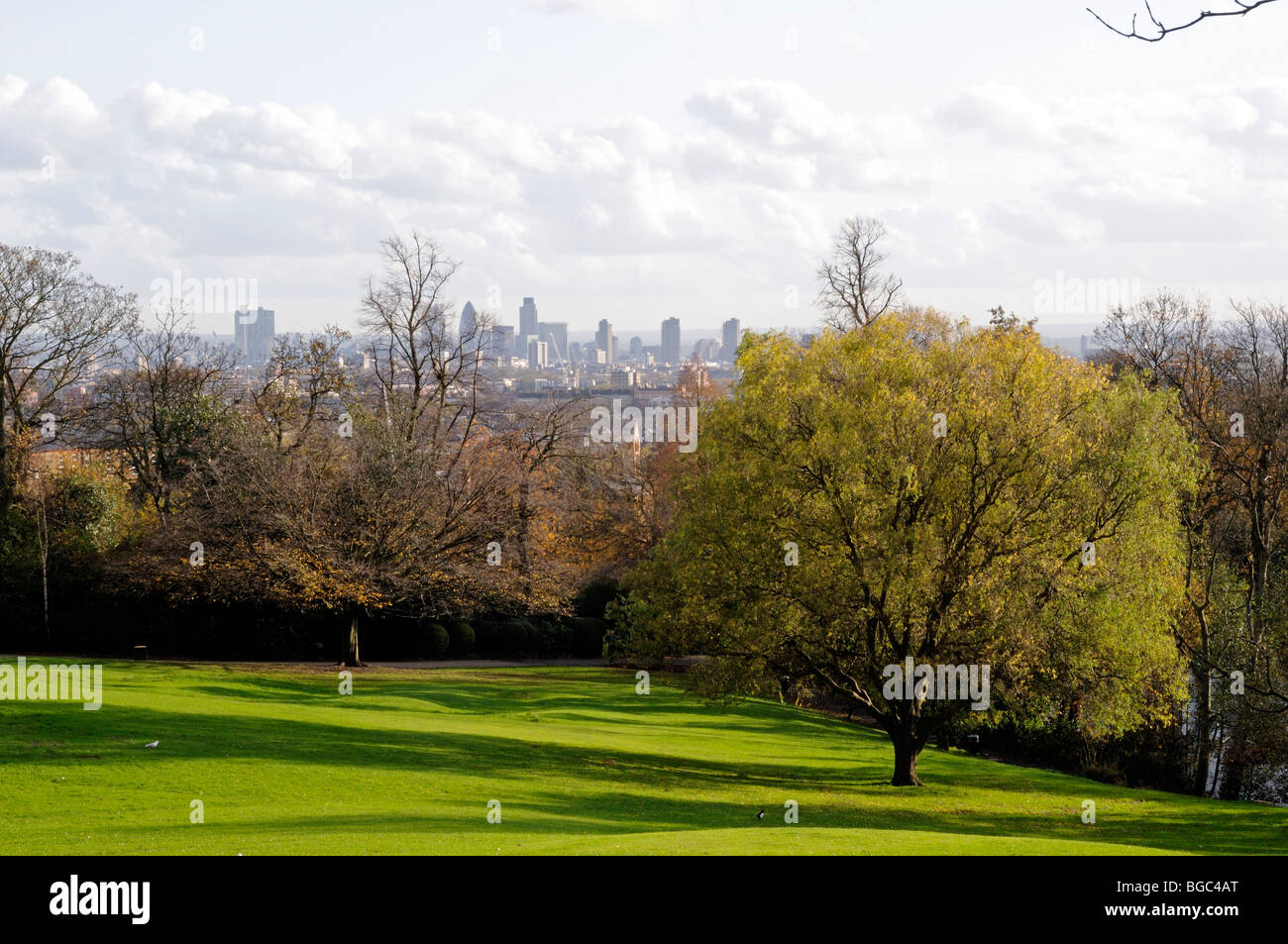 Waterlow Park Highgate looking towards Central London England UK Stock Photo