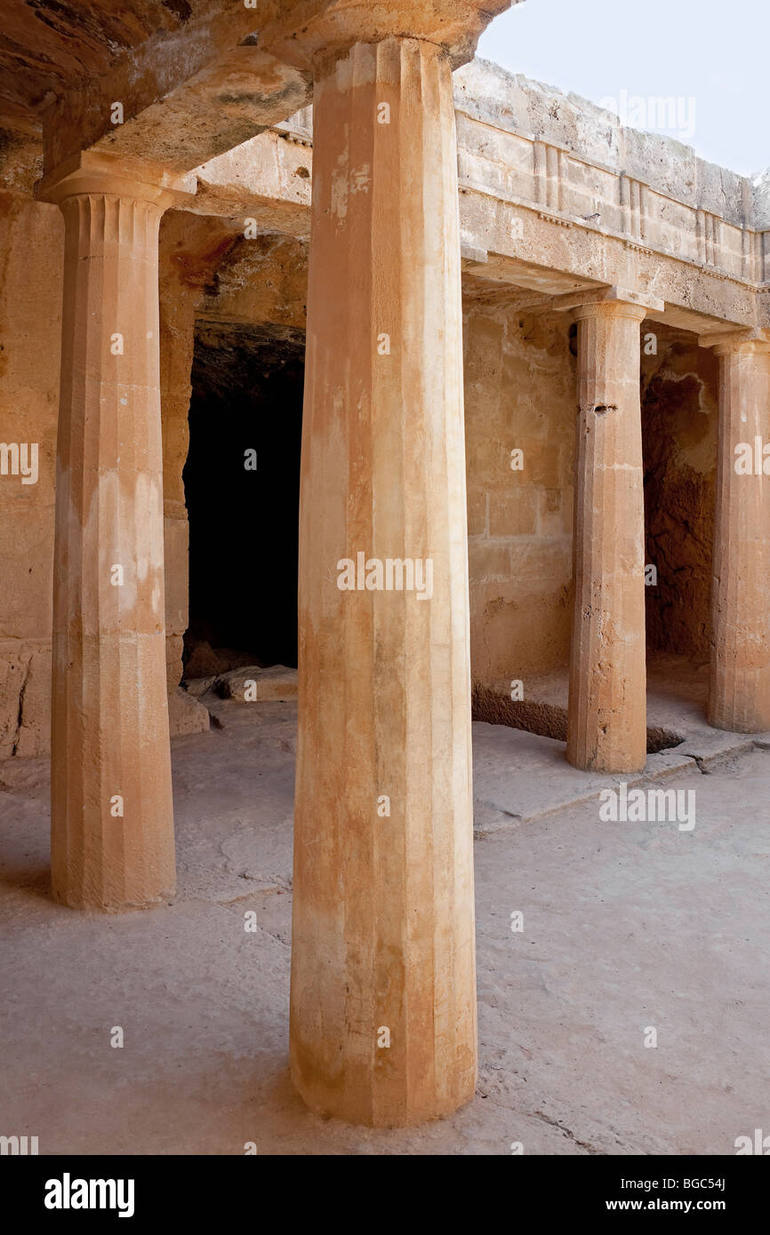 The Royal Tombs of Kato Paphos, Southern Cyprus, West Coast, Cyprus, Southern Europe - Stock Image