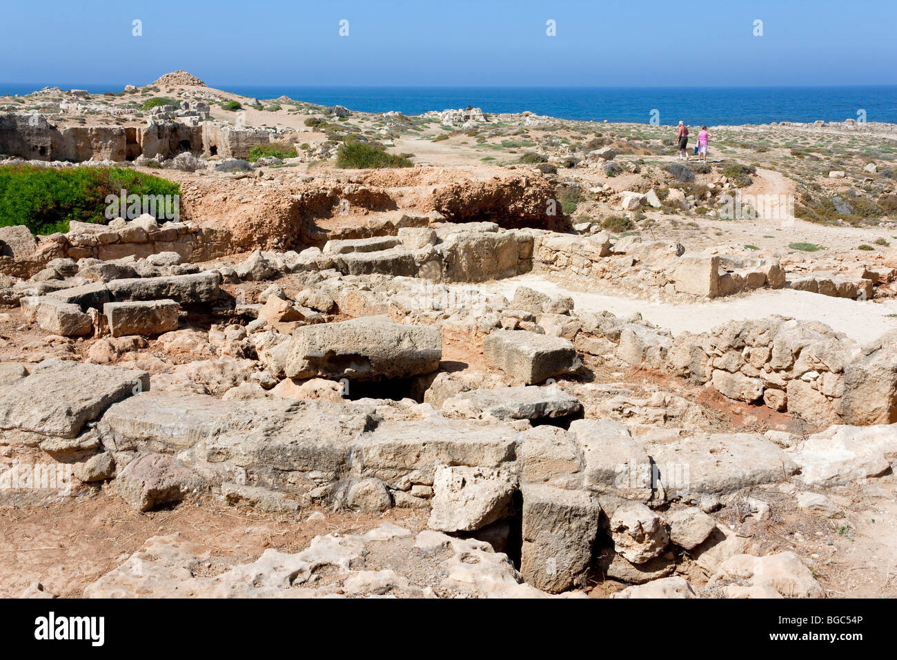 Excavations at the Royal Tombs of Kato Paphos, Southern Cyprus, West Coast, Cyprus, Southern Europe - Stock Image