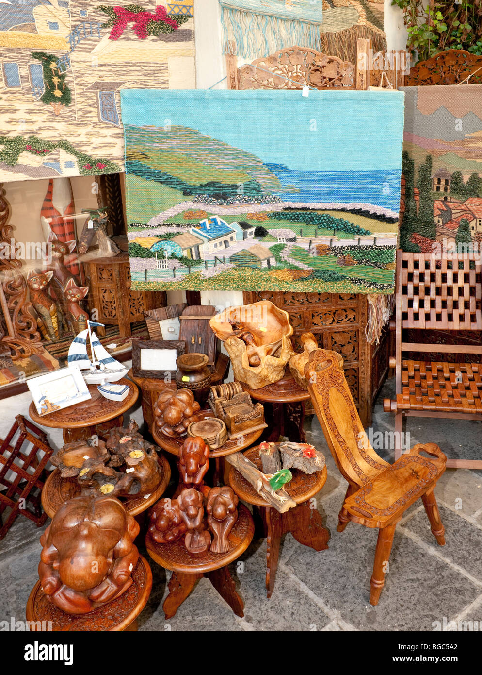 Souvenir shop, Rhodes town, Rhodes island, Greece, northern part, Aegean Sea, Southern Europe, Europe - Stock Image