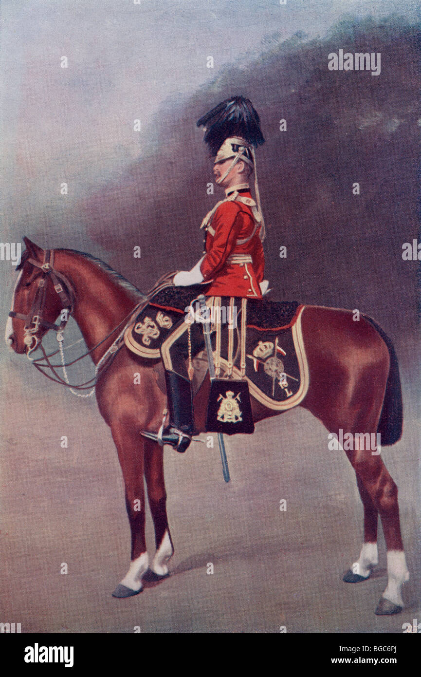 Officer of the 16th Queen's Lancers in the late 19th century. - Stock Image