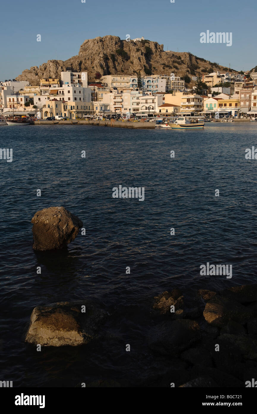 Port of Pigadia, island of Karpathos, Aegean Islands, Dodecanese, Aegean Sea, Greece, Europe Stock Photo