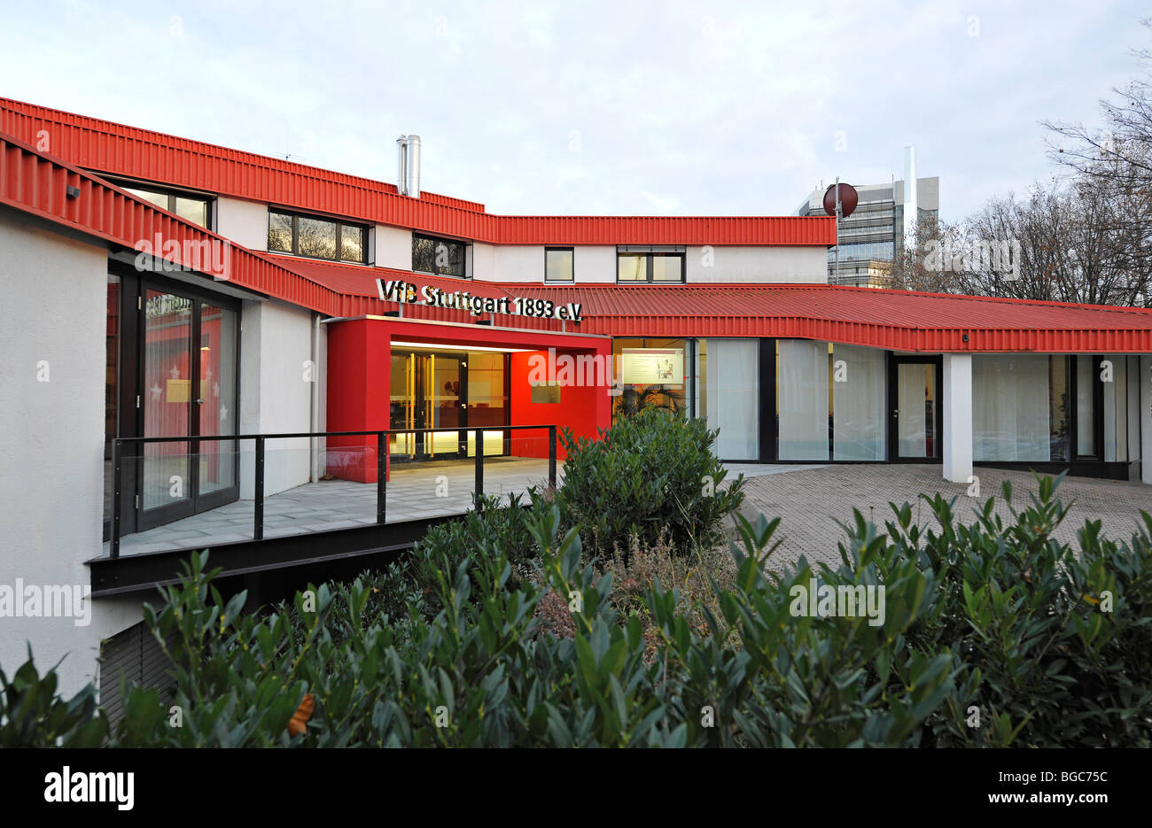 Office of the VfB Stuttgart football club, Stuttgart, Baden-Wuerttemberg, Germany, Europe - Stock Image