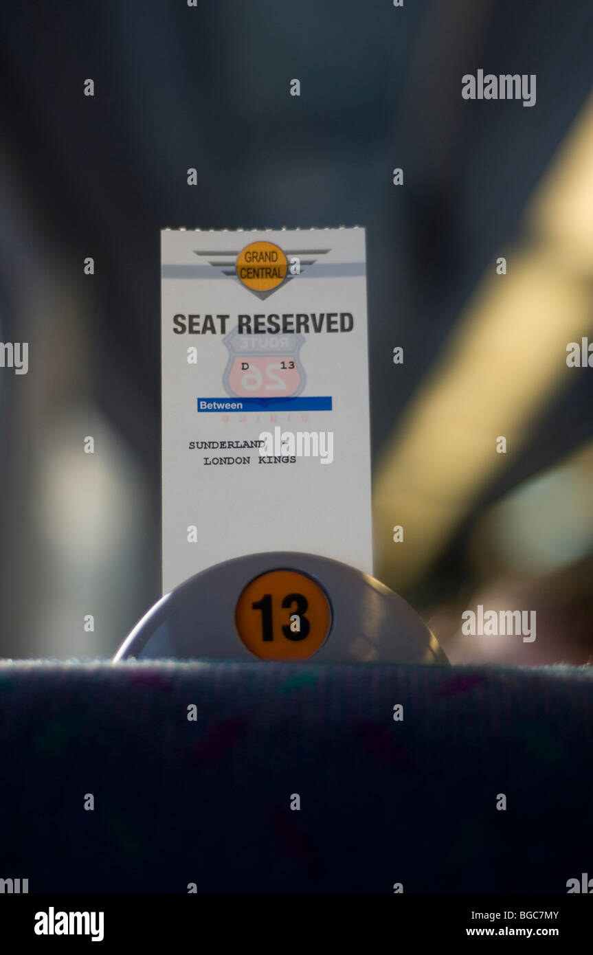 Seat Reservation on a Train - Stock Image