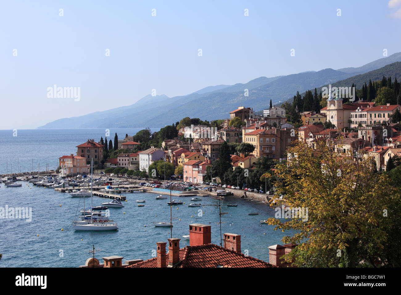 Volosko near Opatija, Istria, Kvarner Gulf, Croatia, Europe Stock Photo