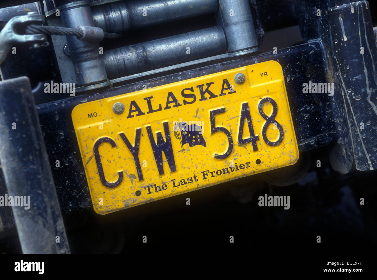 Alaska license plate - Stock Image