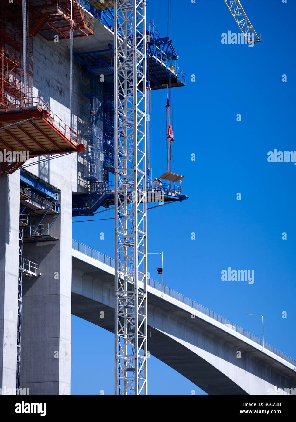 Construction of the second Gateway Bridge Brisbane Australia - Stock Image