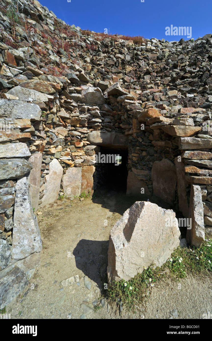 Cairn of Barnenez / Barnenez Tumulus / Mound, a Neolithic monument near Plouezoc'h, Finistère, Brittany, - Stock Image