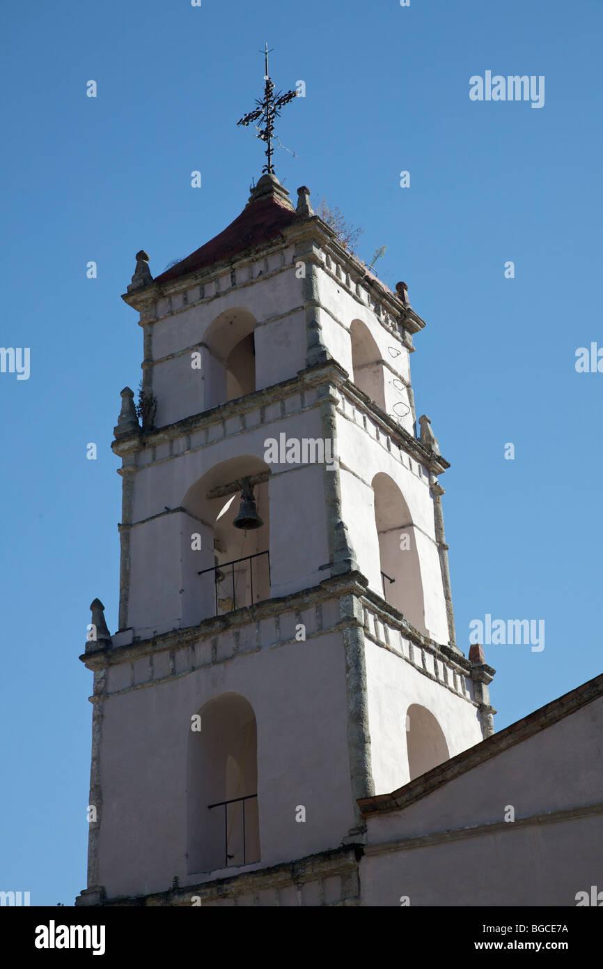 Iglesia de San Pancho, a 16th century from film Treasure of the Sierra Madre San Francisco, Michoacan, Mexico - Stock Image