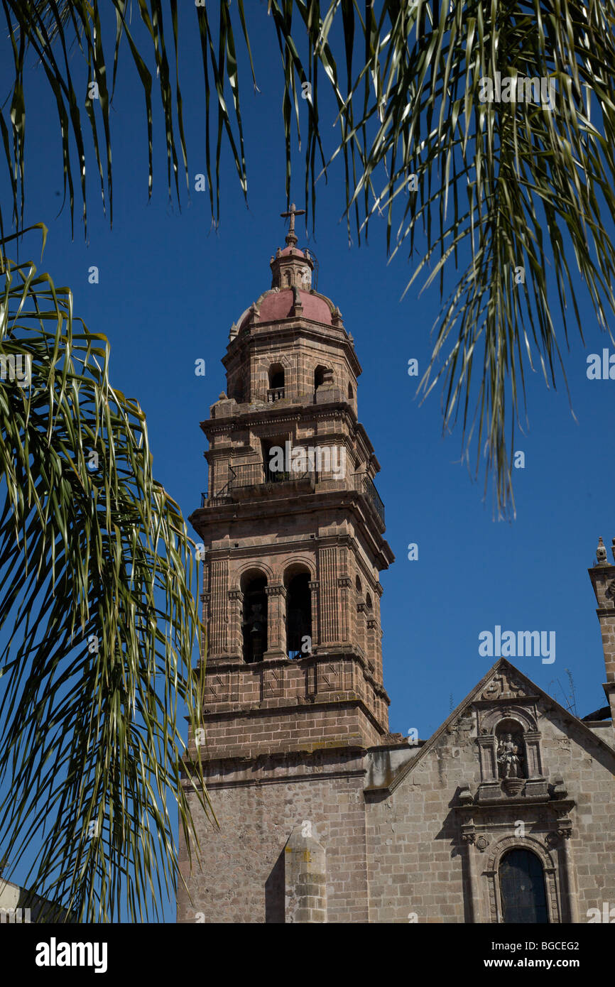 Temple & convent of San Augustine in Morelia, Mexico. - Stock Image