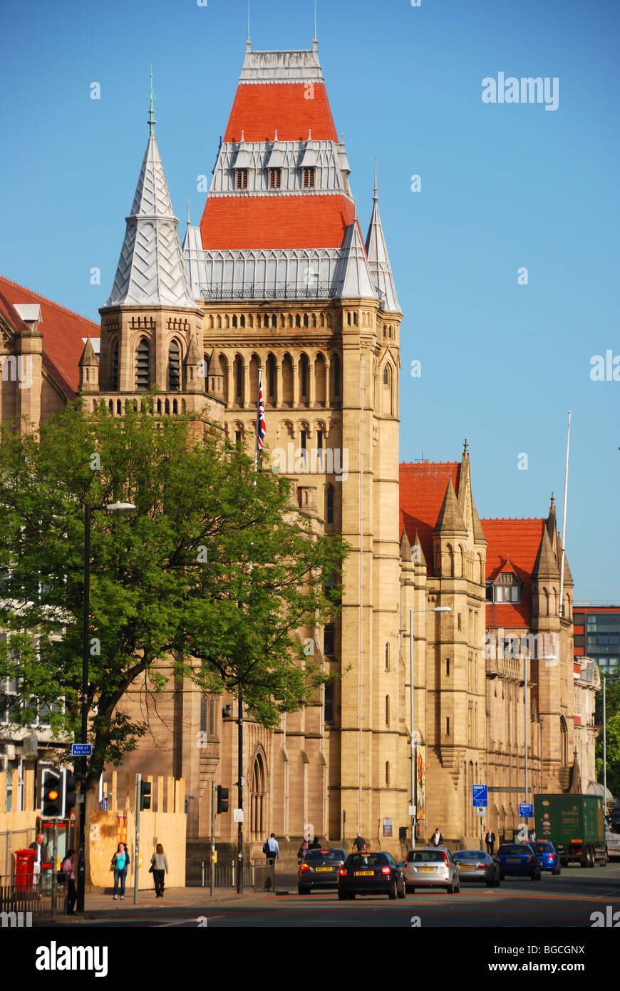Manchester University and Oxford Road - Stock Image