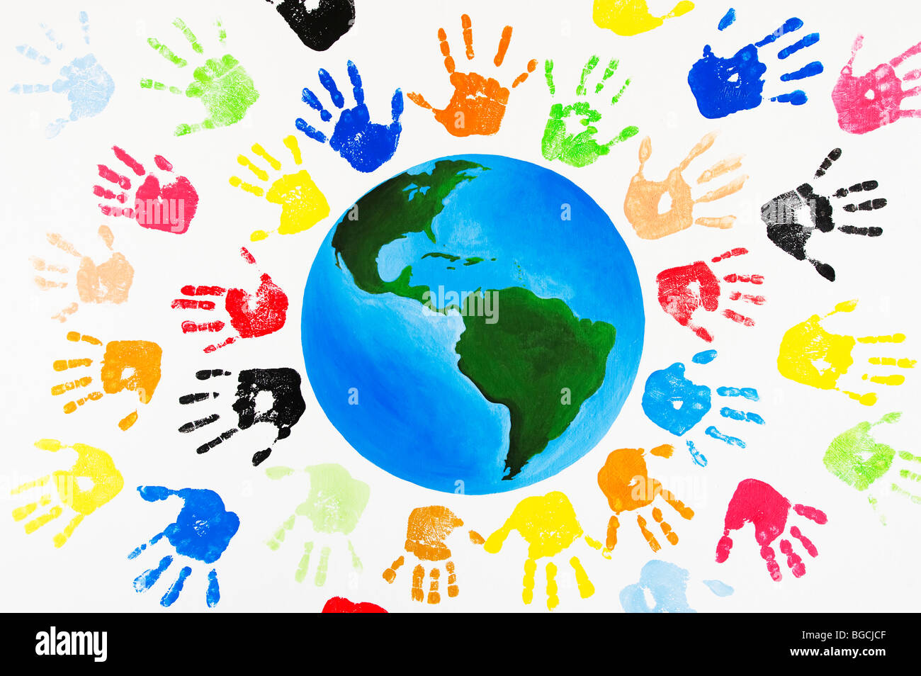 Handprints Stock Photo...