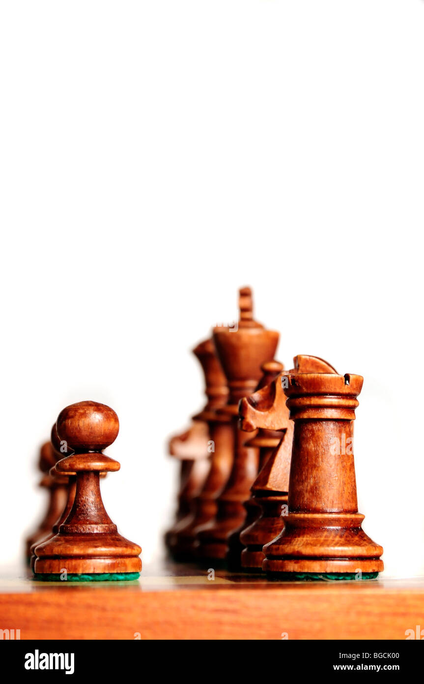 chessmen on the chessboard - Stock Image