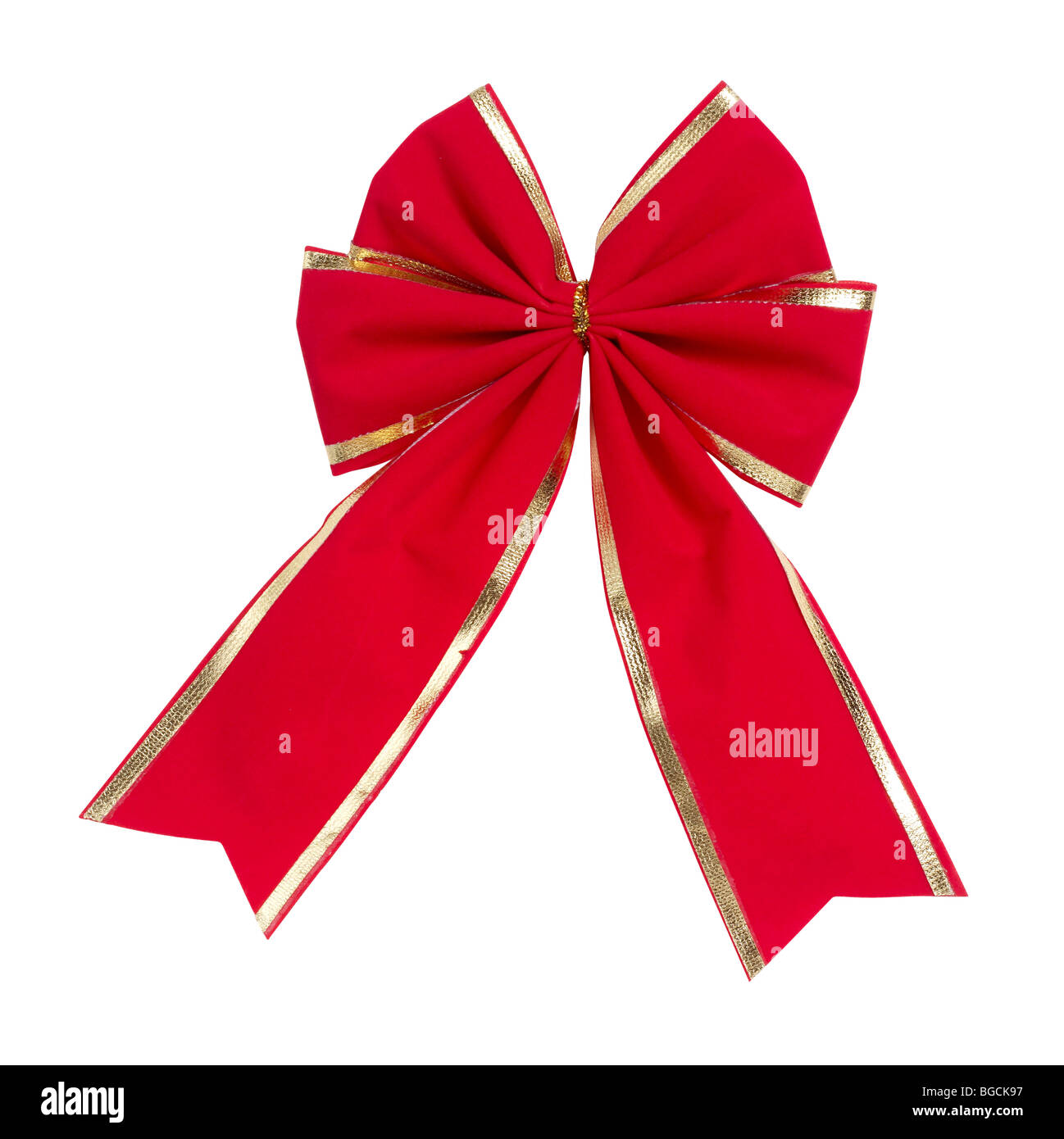 Red and Gold Bow - Stock Image