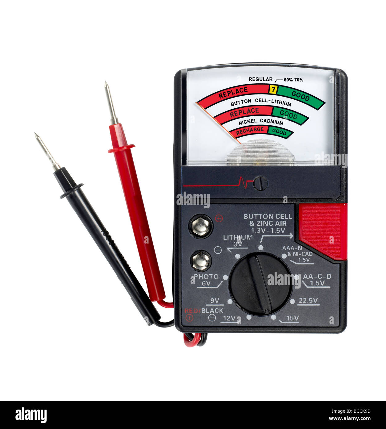 Battery Tester - Stock Image