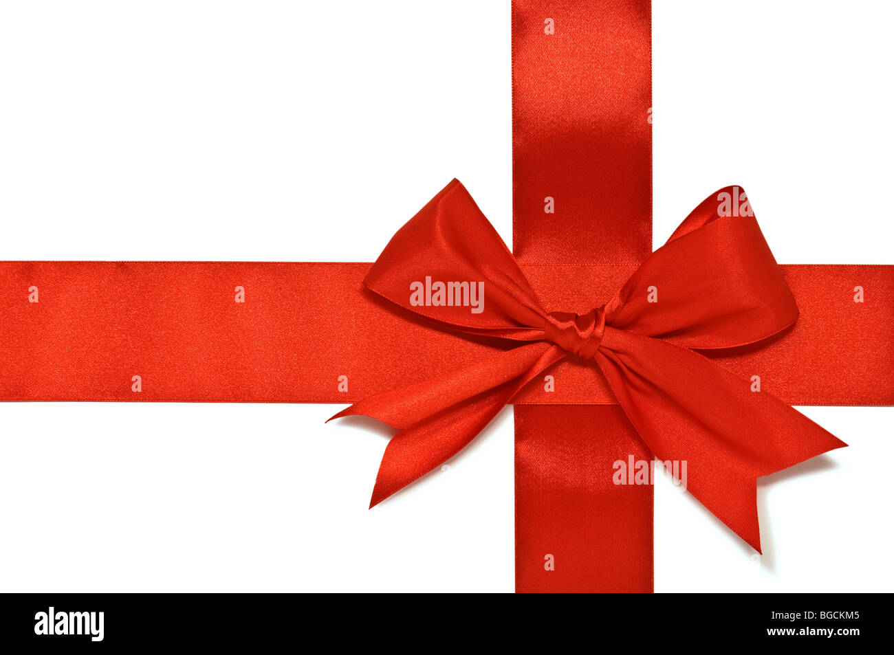 ribbon and bow isolated - Stock Image