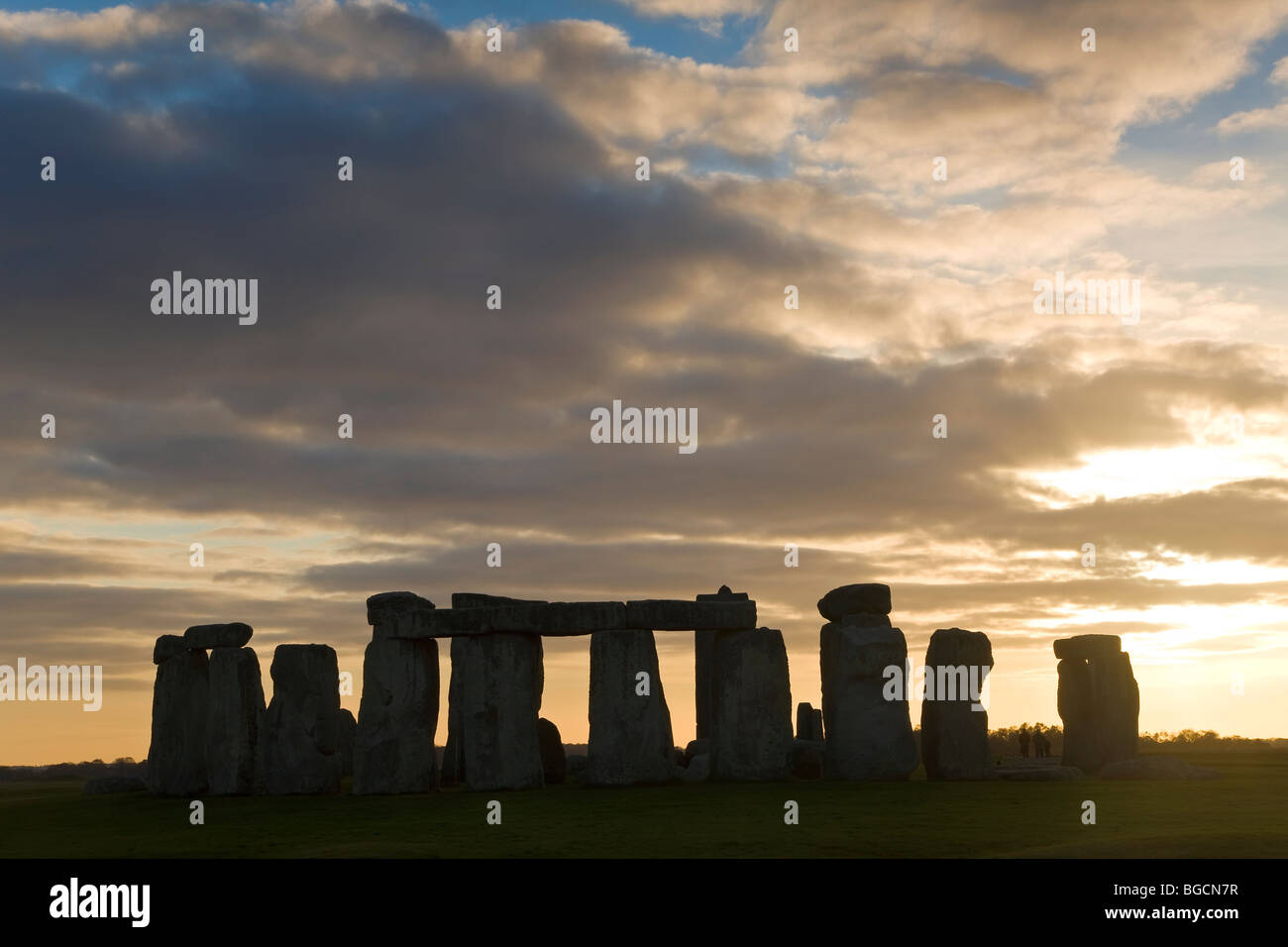 Stonehenge, Wiltshire, UK at sunset Stock Photo