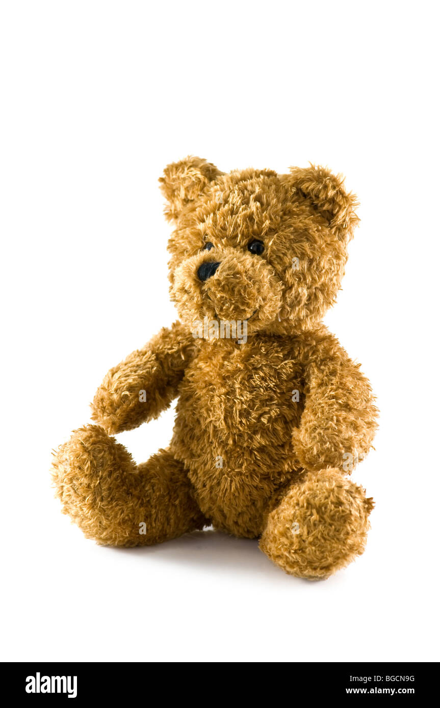 teddy bear isolated Stock Photo