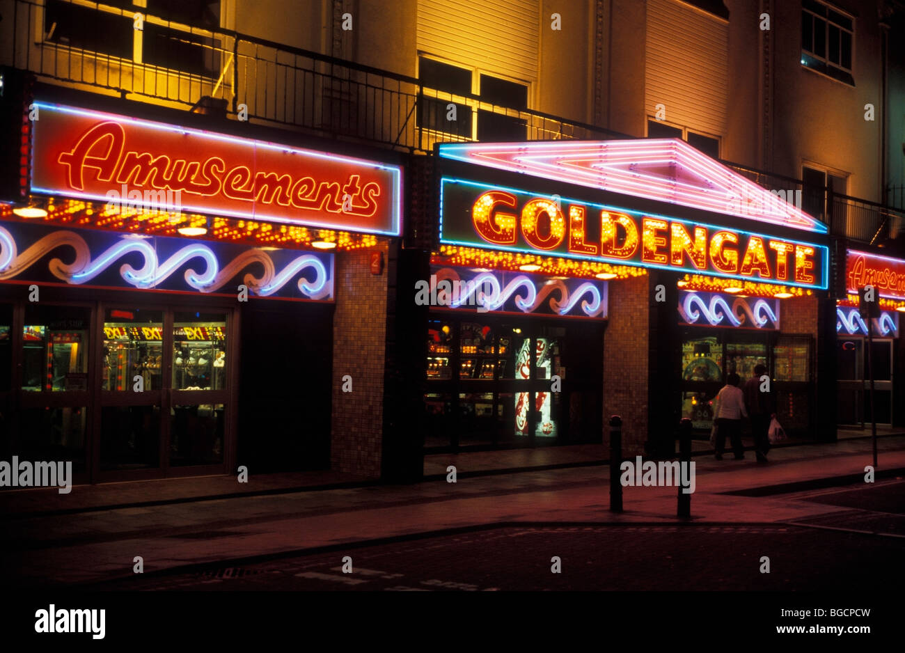 Amusement arcade Weston Super Mare Somerset UK - Stock Image