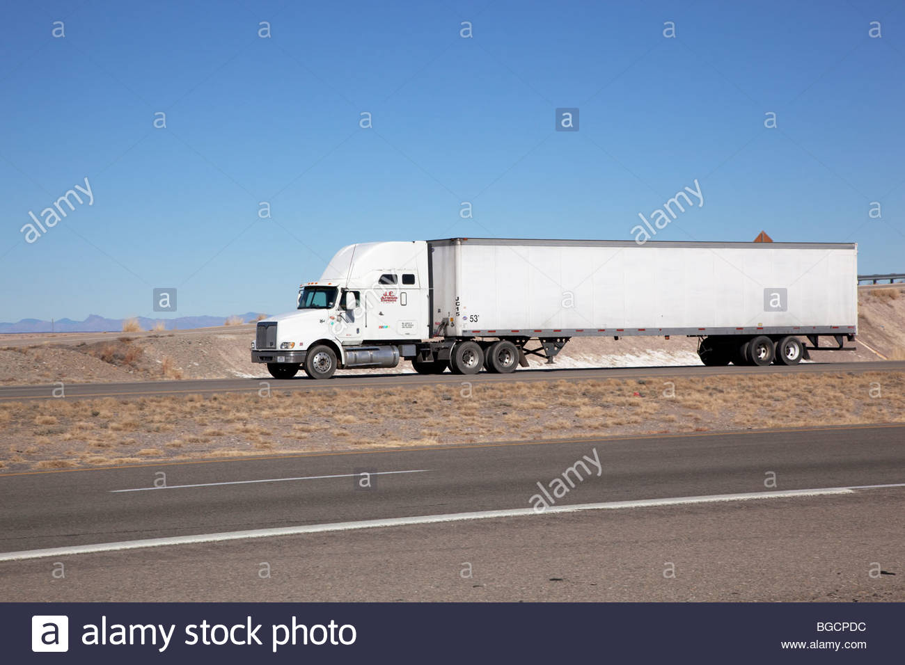 Semi Truck Trailer Van Box Stock Photos Car Wiring Image Search Results Tractor Cargo New Mexico